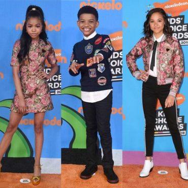 Nickelodeon Kids' Choice Awards 2018 Red Carpet Storm Reid Jenna Ortega Lonnie Chavis