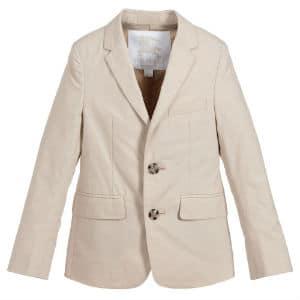 BURBERRY Beige Cotton Tuxy Blazer