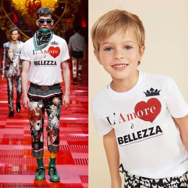 DOLCE & GABBANA Boys Mini Me L'Amore e Bellezza T-Shirt