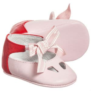FENDI Girls Pink Pre-Walker Shoes