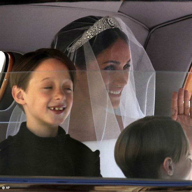 Meghan Markle Givenchy Bride Dress with Ringbears