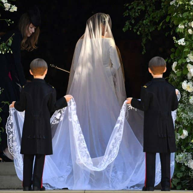 Meghan Markle Royal Wedding Dress Ring Bearer Givenchy Black Suit