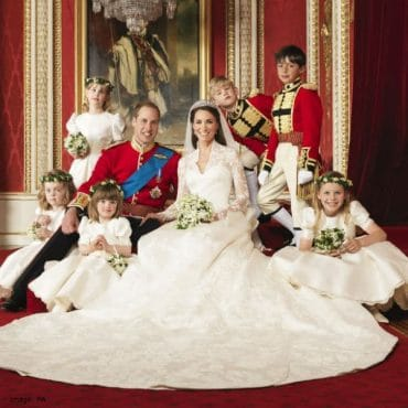 Official Wedding Photograph Prince William Kate MIddleton Flowergirls