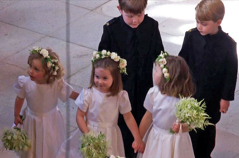 Prince George Princess Charlotte Bridesmaid Harry Meghan Royal Wedding