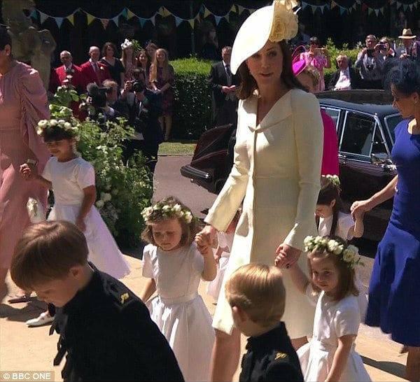 Princess Kate Prince George Princess Charlotte Bridesmaid Givenchy Dress Royal Wedding