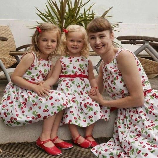RACHEL RILEY Girls Mini Me Cherry Print Dress
