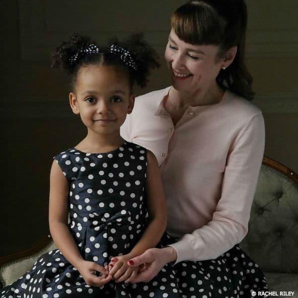 RACHEL RILEY Girls Mini Me Polkadot Dress