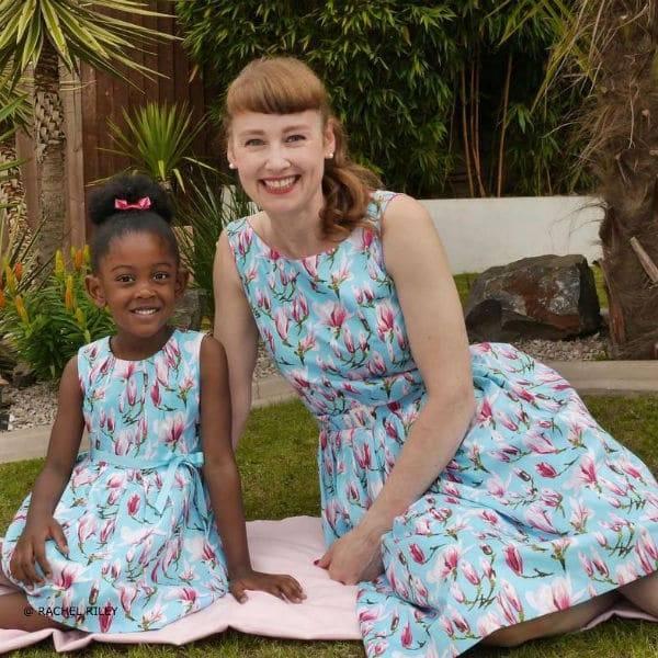 RACHEL RILEY Girls Mini Me Tulip Print Dress