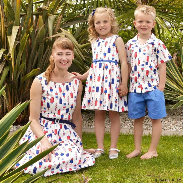 RACHEL RILEY Mini Me Ice-Lolly Print Cotton Dress