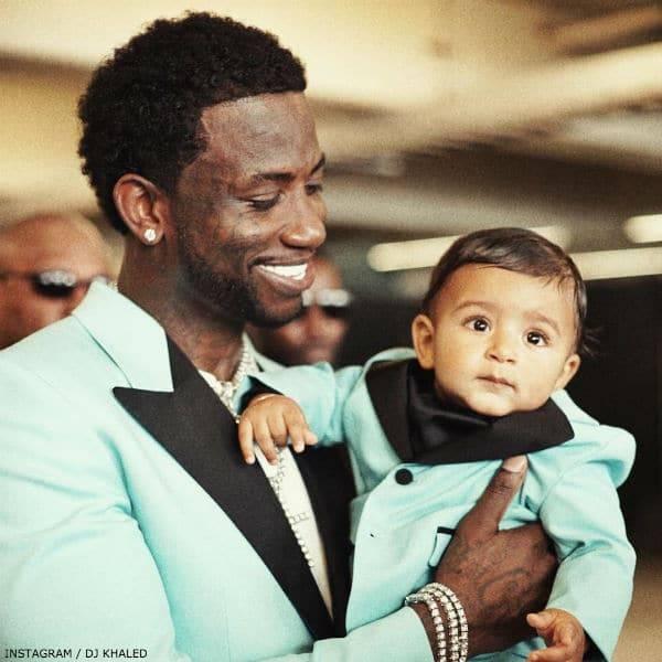 Gucci Mane & Asahd Khaled Matching GUCCI Tuxedos 2017 BET Awards