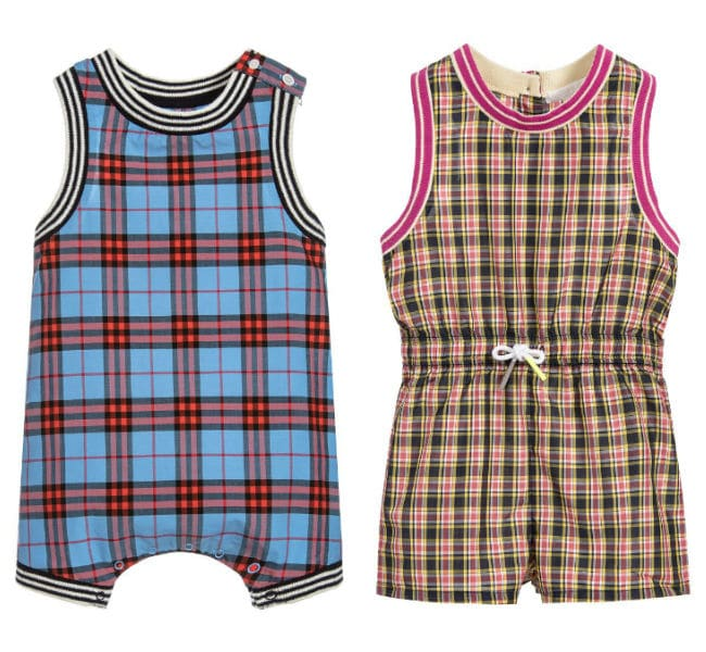BURBERRY Baby Boys MICHAEL Shortie Girls Mini POLLIE Playsuit