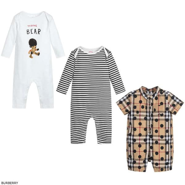 FURTHER REDUCED BURBERRY Thomas Bear Babygrow Gift Set