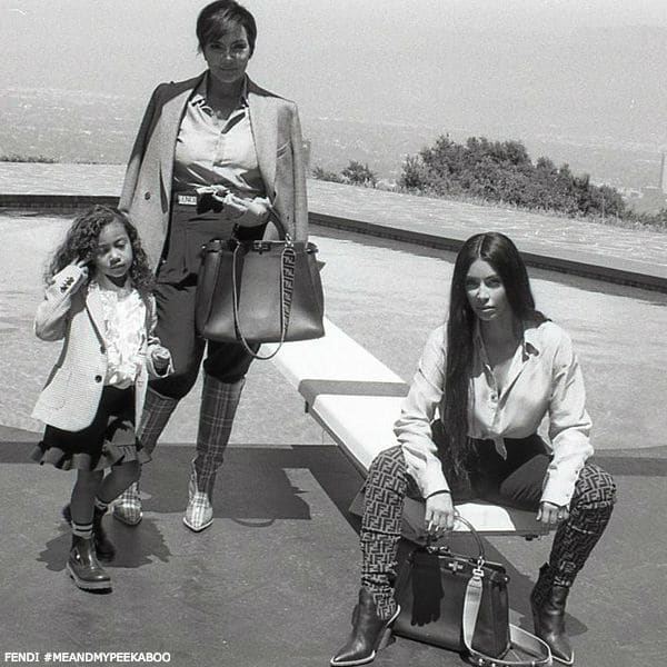 Fendi MeAndMyPeekaboo Kris Jenner Kim Kardashian and North West