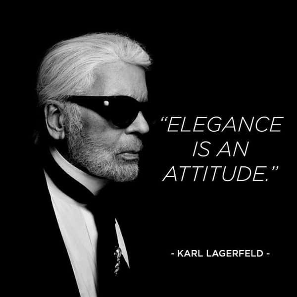 Karl Lagerfeld Elegance is an attitude RIP