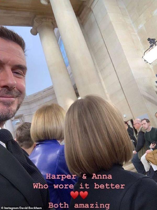 David Beckham Who Wore it Better Harper or Anna London Fashion Week