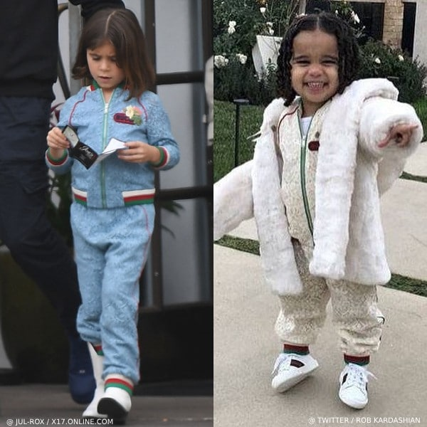 GUCCI MINI ME LACE TRACKSUIT PENELOPE DISICK VS DREAM KARDASHIAN