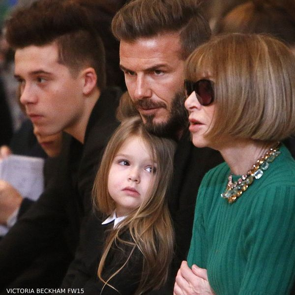 Harper Beckham Anna Wintour - Victoria Beckham New York Fashion Week Fall Winter 2015
