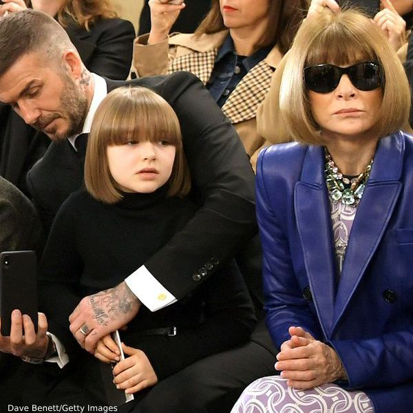 Harper Beckham Vogue Editor Anna Wintourp Mini Me Bob Hairstyle London Fashion Week February 2019