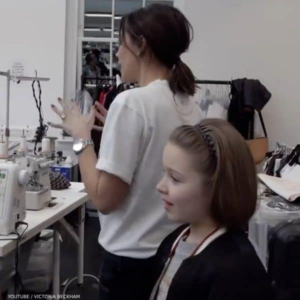 Victoria Beckham Brings Harper to Work in Chloe Mini Me Bomber Jacket