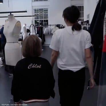 Victoria Beckham Harper Youtube Video Chloe Mini Me Black Tiger Bomber Jacket