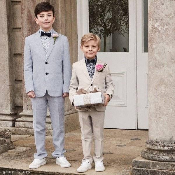 Romano Boys Blue & Beige 2 Piece Suits