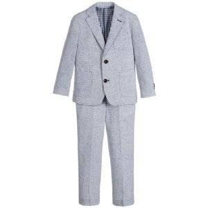 Romano Boys Blue 2 Piece Suits