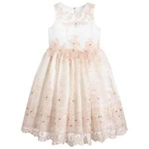 Romano Princess Girls Satin & Tulle Dress