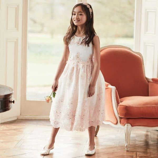 Romano Princess Girls Satin & Tulle Party Dress