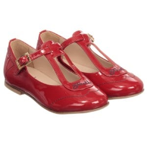 Fendi Girls Red Patent Leather Shoes