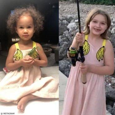Harper Beckham VS Luna Stephens Stella McCartney Girls Banana Dress