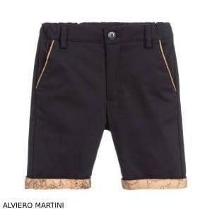 Alviero Martini Boys Blue Geo Map Shorts