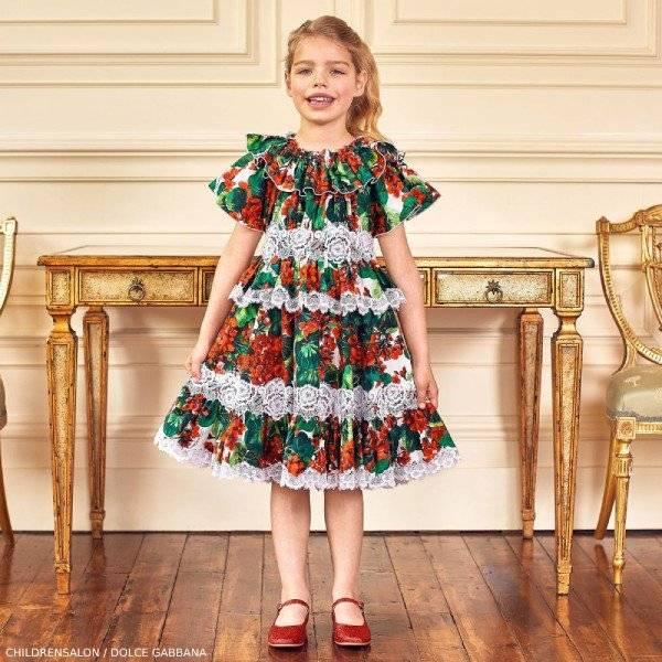 Dolce Gabbana Girl Red Geranium Dress