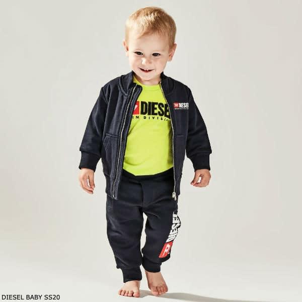 Diesel Baby Boy Blue Cotton Logo Tracksuit