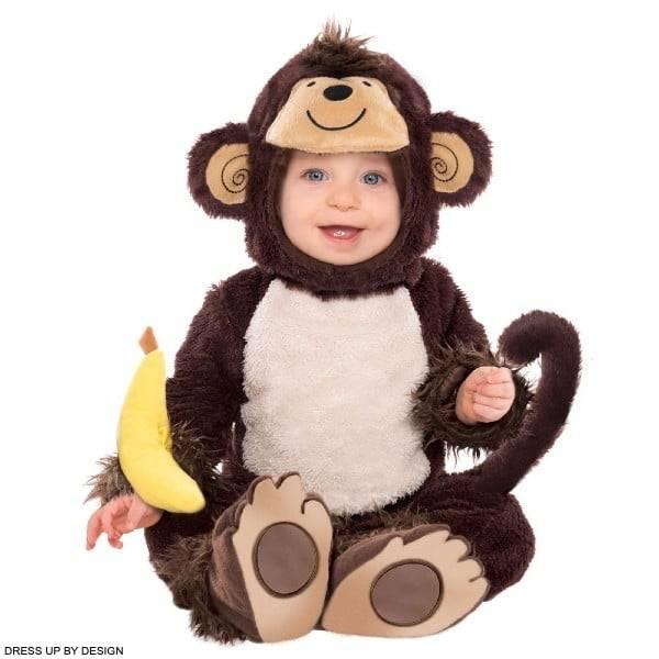 Dress Up By Design Baby 4 Piece Brown Monkey Around Costume