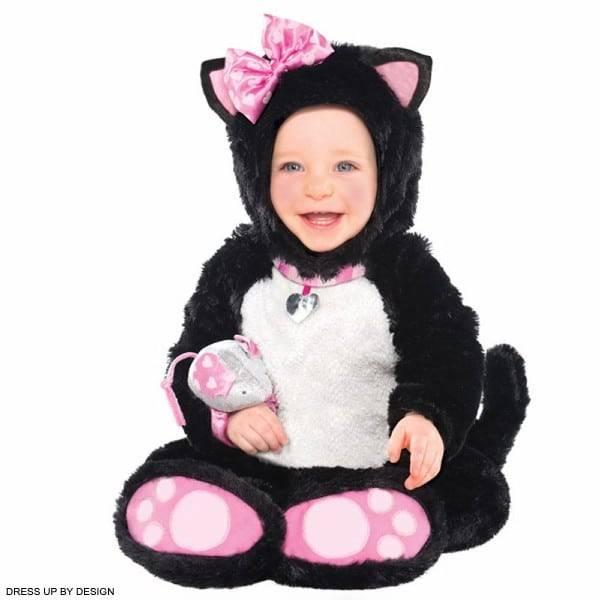 Dress Up By Design Baby Girls Black White Pink Itty Bitty Kitty Cat Costume